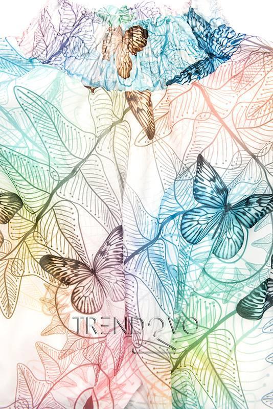 10eeafd078f7 Biele minišaty s potlačou motýľov - Dámske oblečenie