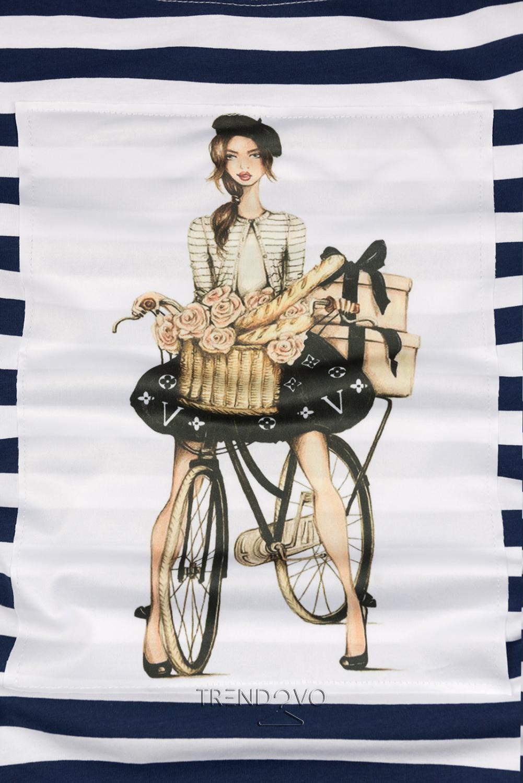 1d0ba83d076d Modro-biele pruhované šaty FRENCH GIRL I. - Dámske oblečenie