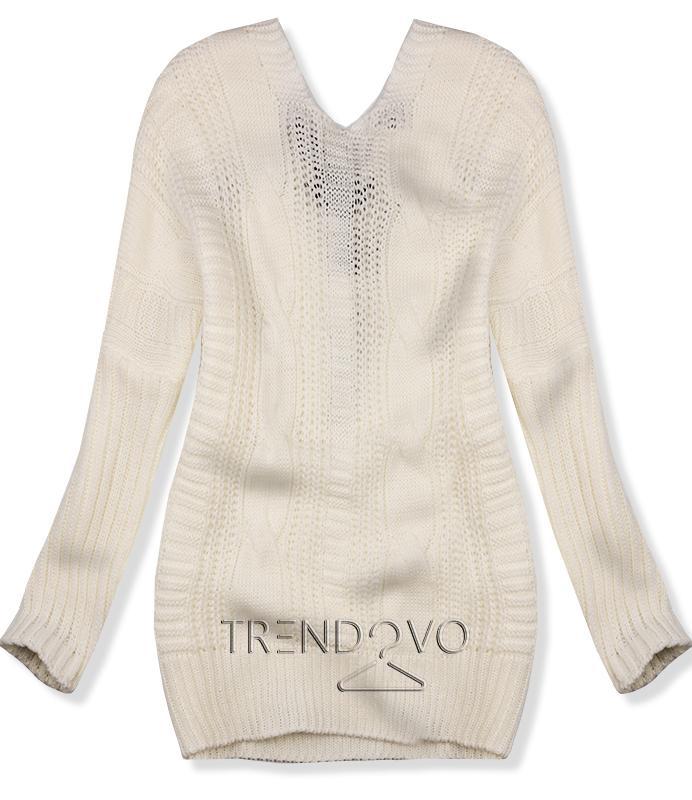 918825495662 Biely sveter s mašľou - Dámske oblečenie
