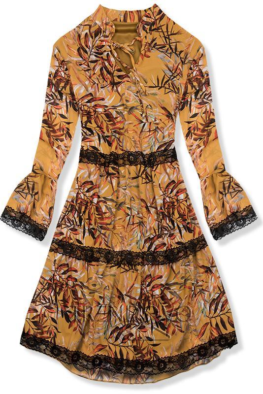 a2a78a9dd890 Žlté kvetinové šaty - Dámske oblečenie