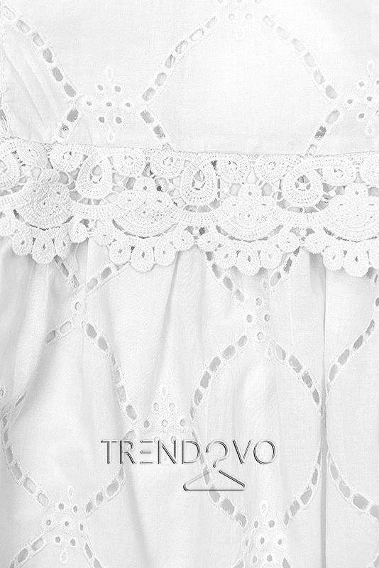 2ed6aac9bb19 Biele šaty s čipkou a výšivkou - Dámske oblečenie