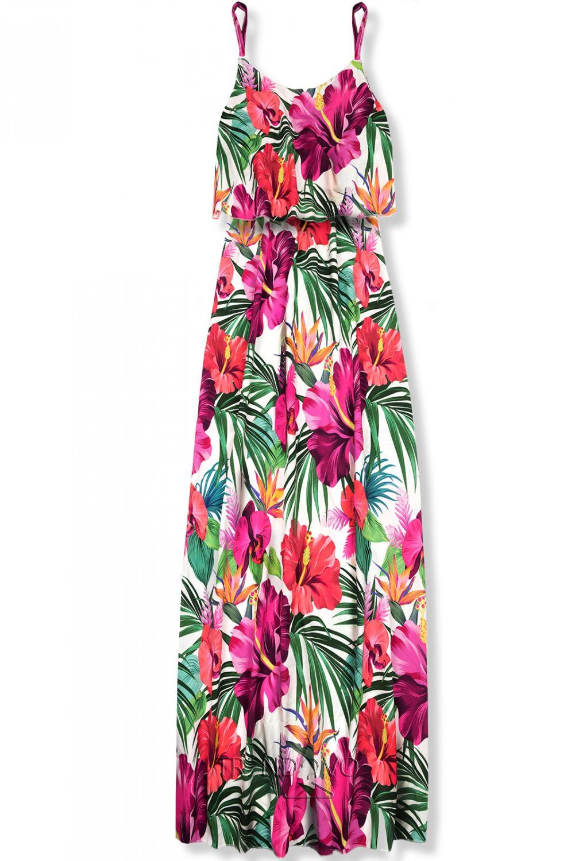 97260c3a599f Maxi kvetinové farebné šaty - Dámske oblečenie