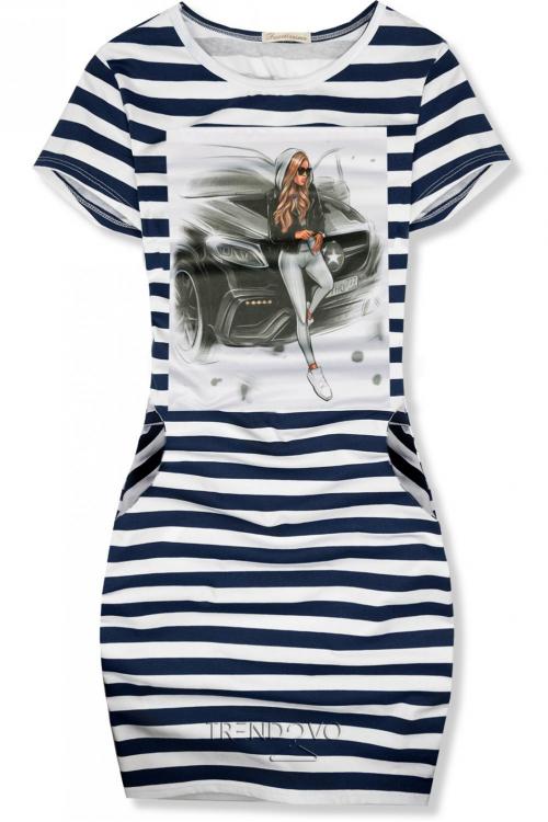 651e3f1ea20e -21% Pruhované šaty Girl   car ...
