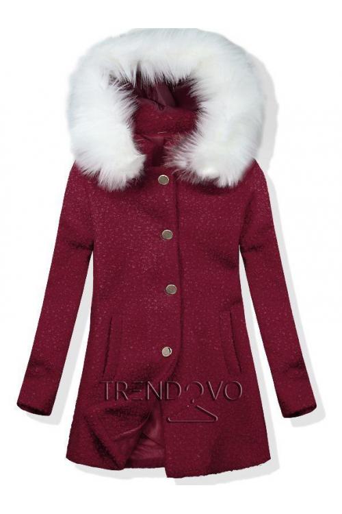 38558 8192A Čierny zimný kabát s plyšovou podšívkou pohodlný a ... c04d5b28c07