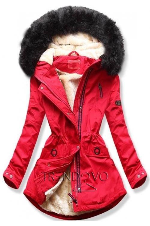 9311d14c7901 38558x48 38558 Čierny zimný kabát s plyšovou podšívkou pohodlný ...