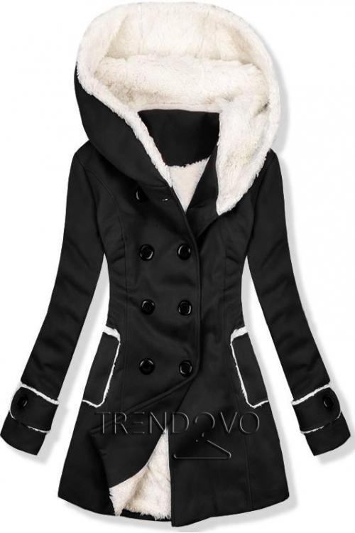 0664376f2f Ružový zimný kabát s kožúškom - Dámske oblečenie