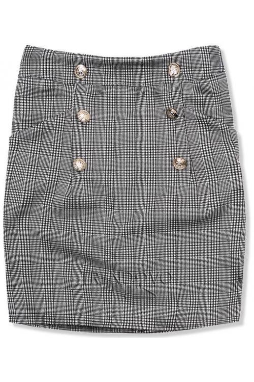 3ed9610fbe66 Sivo-čierne kárované sako - Dámske oblečenie