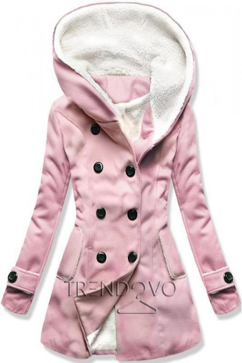 60d26b355ce4 38558x48 38558 Čierny zimný kabát s plyšovou podšívkou pohodlný ...