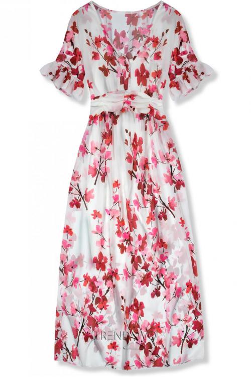 f24134678ac4 Biele maxi šaty s kvetinami Mindy
