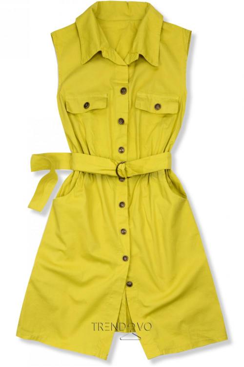 fb7cf19fc4a1 Žlté šaty s opaskom