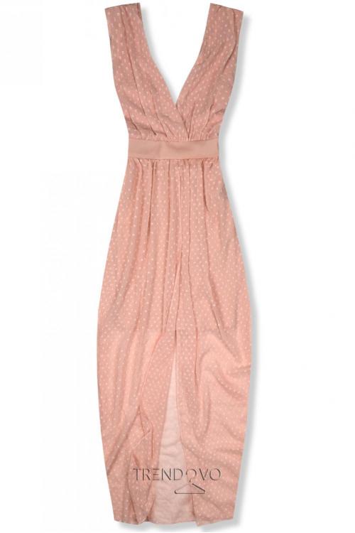 6c28bfceee75 Dlhé marhuľové letné šaty