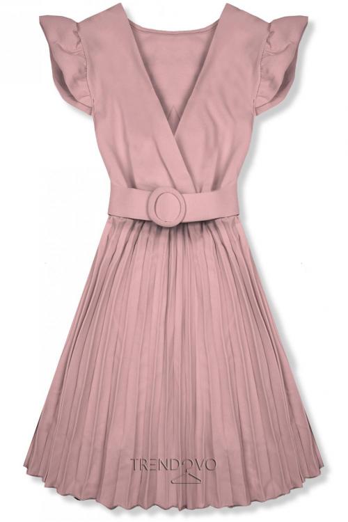 d581c17a187a Staroružové šaty so skladanou sukňou