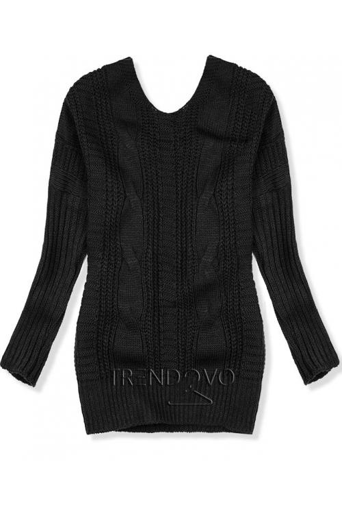 Čierny sveter s mašľou