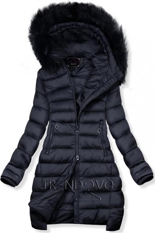 7ffd76047807 -29% Tmavomodrá predĺžená zimná bunda
