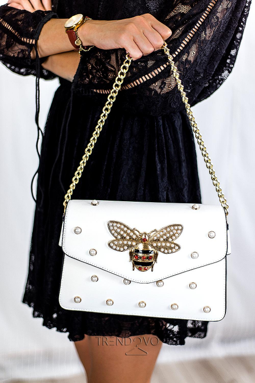 Biela dámska kabelka WASP