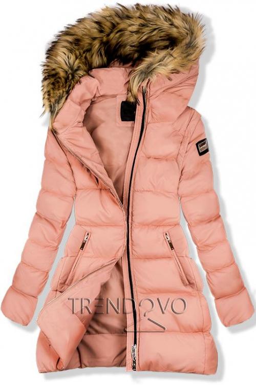 Marhuľovo ružová zimná bunda/vesta