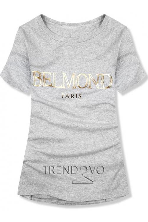 c176c45a515c Biele tričko s nápisom - Dámske oblečenie