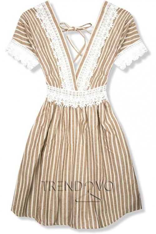 0c6c137a8dd7 Béžové letné šaty s holým chrbtom