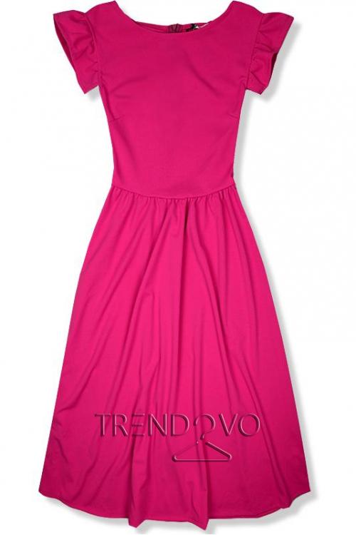 d71ec55cd0eb Fuchsiové elegantné midi šaty