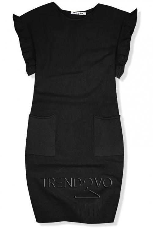 541899570d2c Čierne pletené oversized šaty