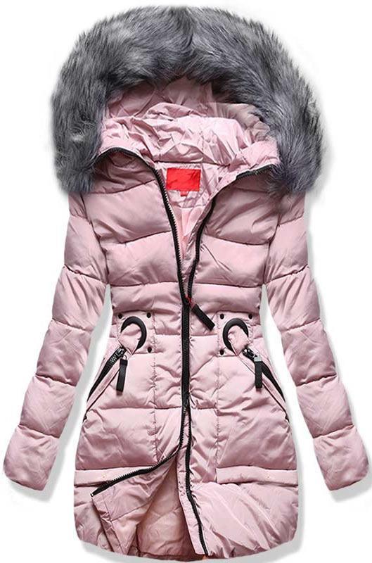 Ružová zimná bunda