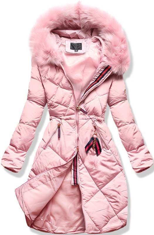 Ružová zimná bunda L928